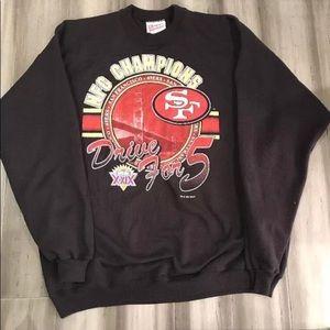 Vintage NFL San Francisco 49ers Crewneck Sweater